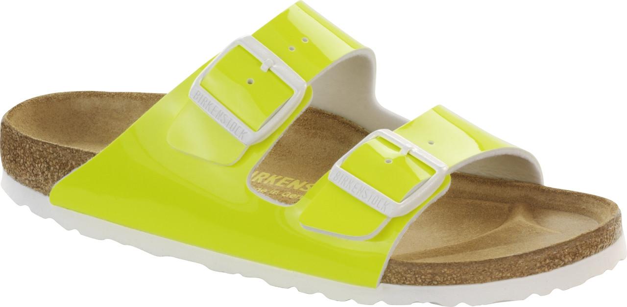 e76e447252f1 Birkenstock Arizona Neon Yellow Patent - Herbert s Boots and Western ...