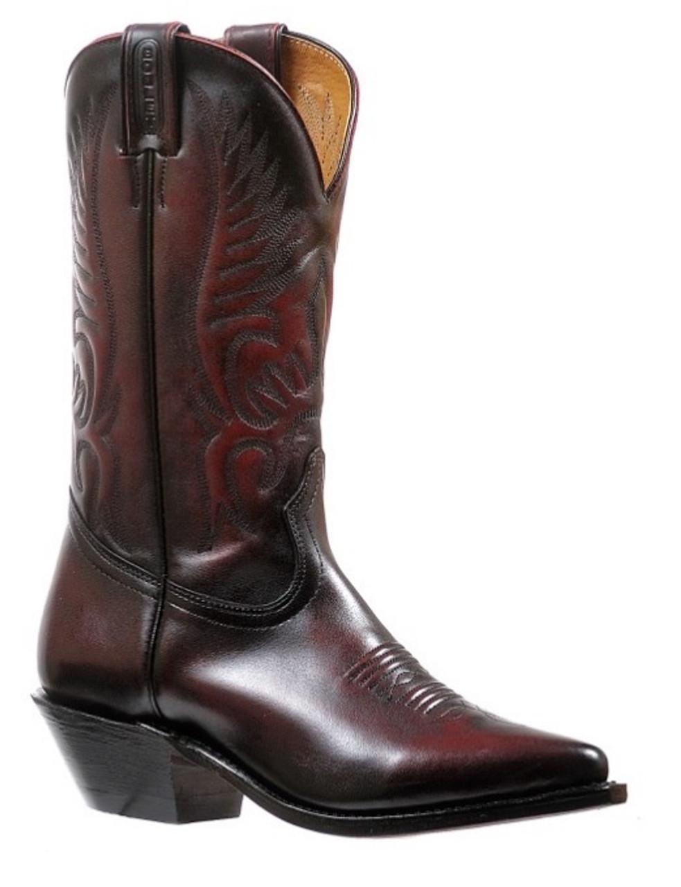 9b957f72d52 Women's Boulet Black Cherry Snip Toe Western Boot