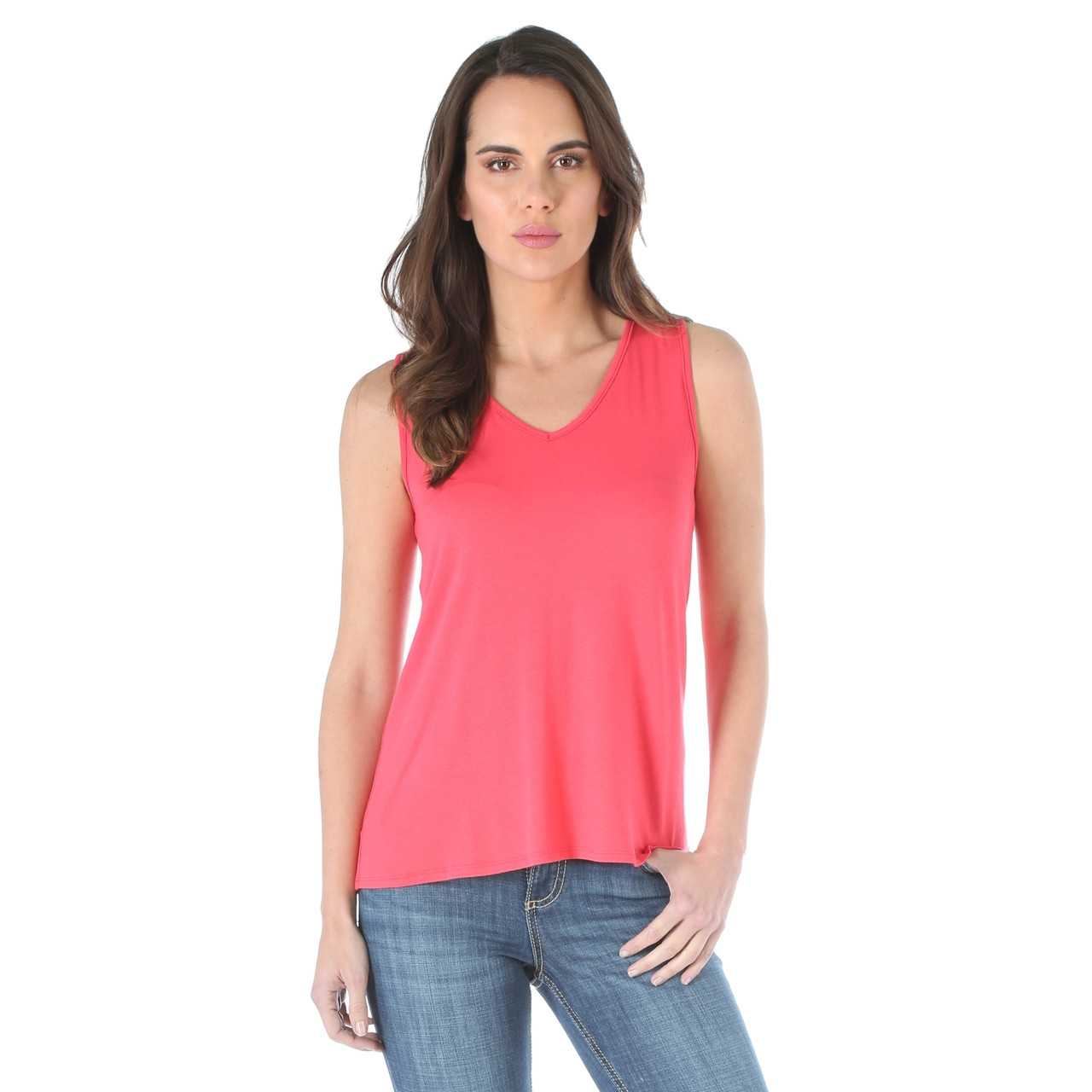 bf6053343b731 Women s Wrangler Coral Sleeveless Top - Herbert s Boots and Western Wear
