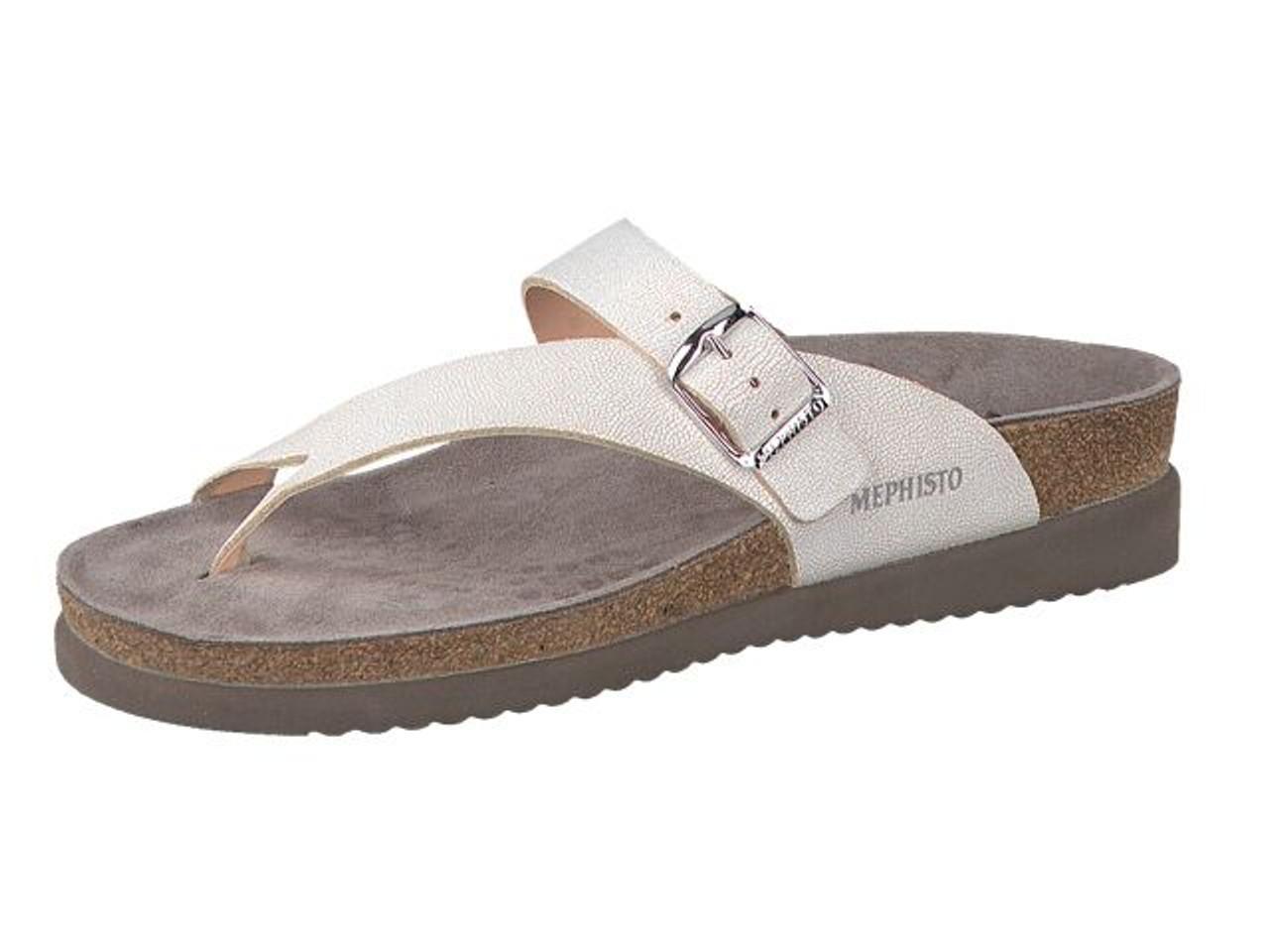 bf65de1404d Women's Mephisto Helen White Venise Sandal - Herbert's Boots and ...