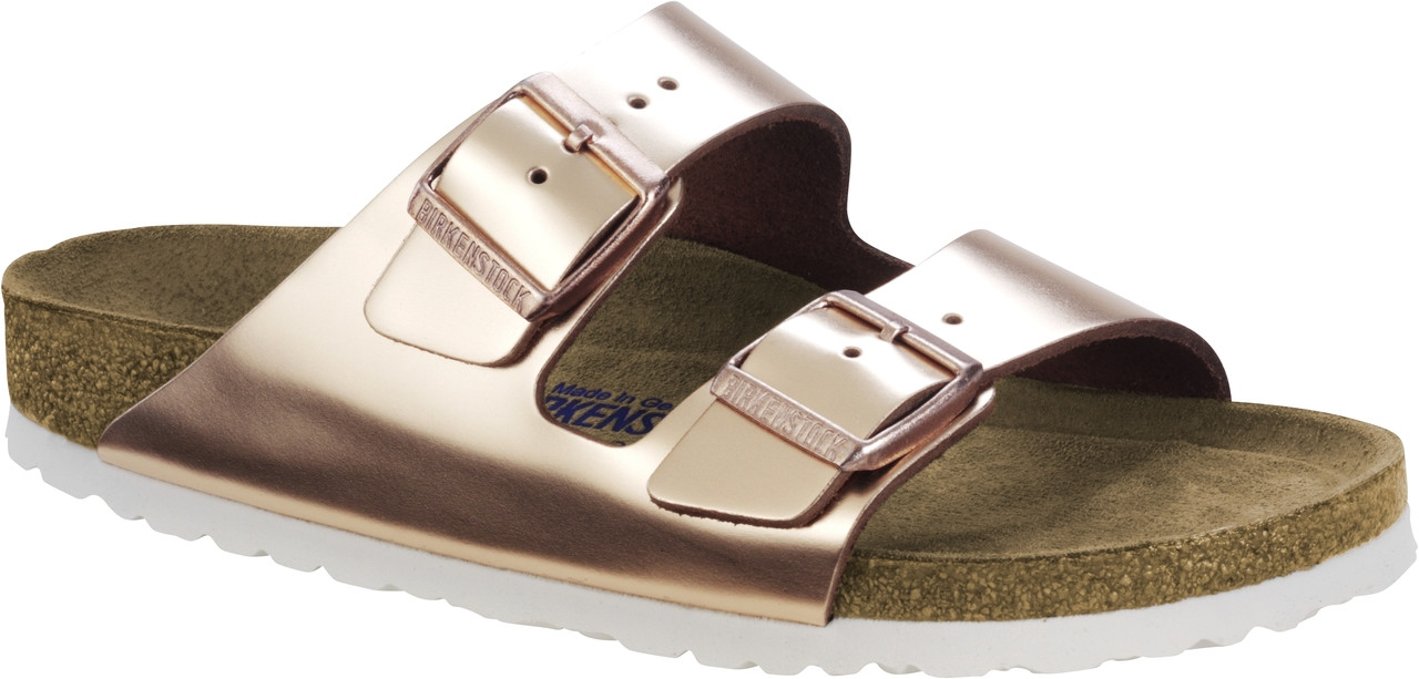 8012039cd63 Birkenstock Arizona Metallic Copper Soft Footbed - Herbert s Boots and  Western Wear