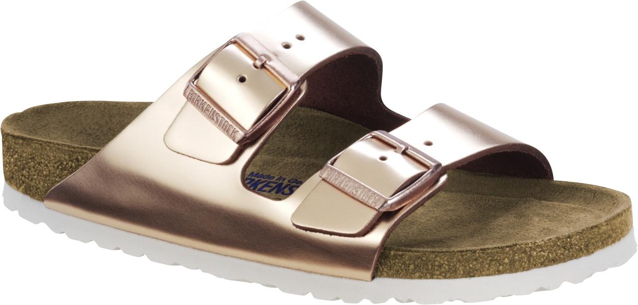 c4fb38a8b826 Birkenstock Arizona Metallic Copper Soft Footbed - Herbert s Boots and  Western Wear