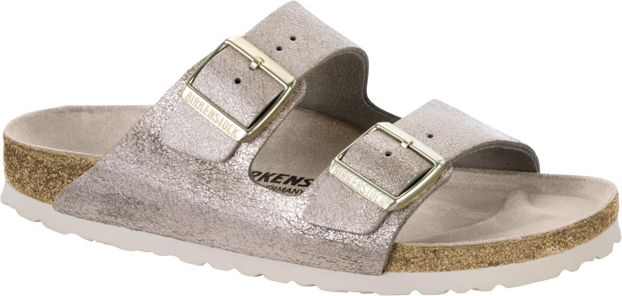 5bb5341dba4354 Birkenstock Arizona Washed Metallic Rose Gold - Herbert s Boots and ...