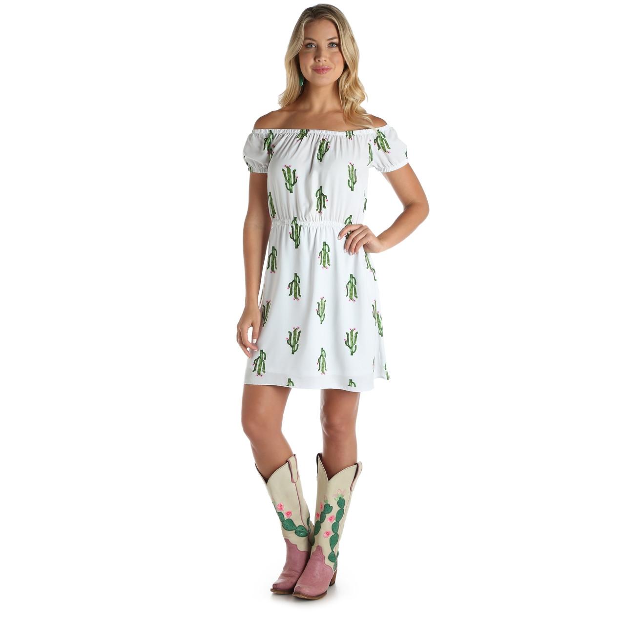 b8b52a8bd84 Wrangler White Cactus Dress