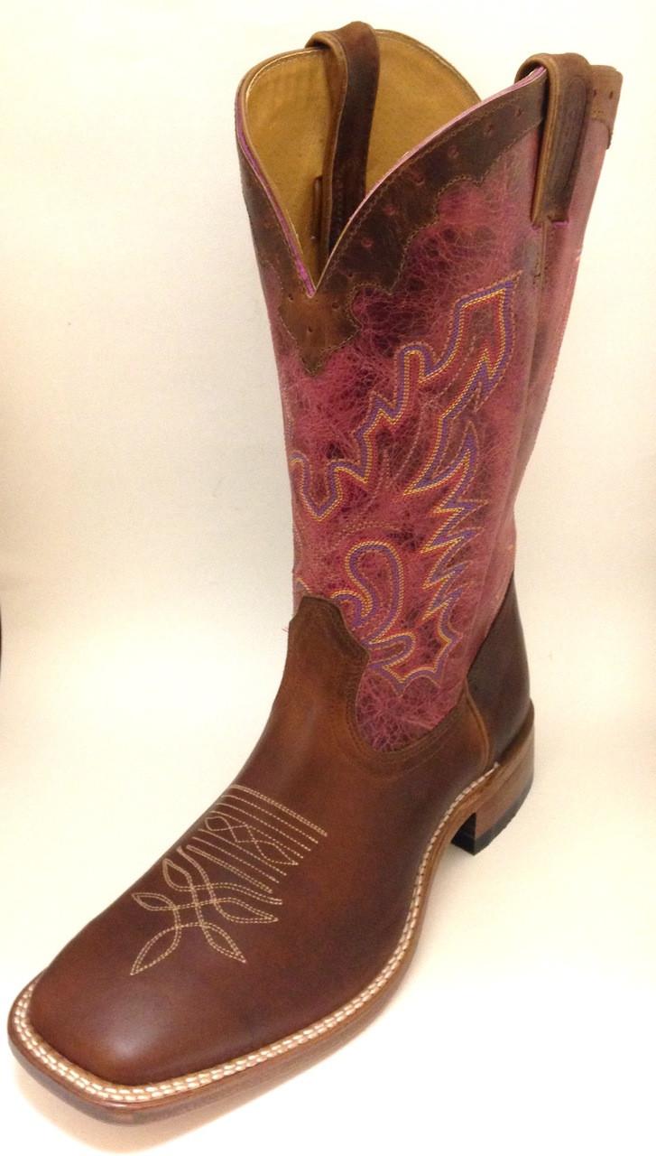 c70b3985ecd Men's Boulet Brown Wide Square Toe Cowboy Boot