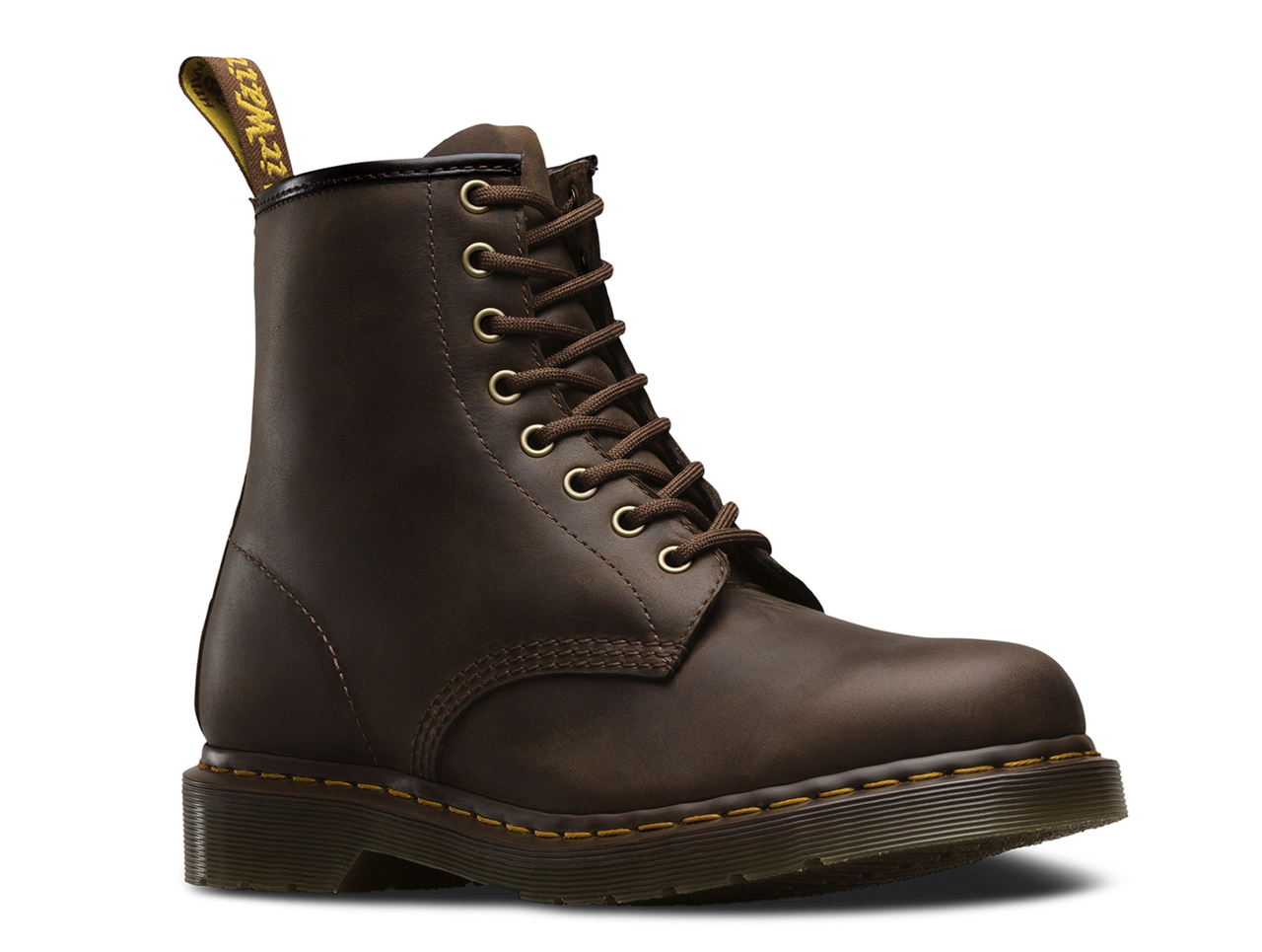 the latest amazon new style Dr. Martens Men's Original 1460 Gaucho Crazy Horse Leather