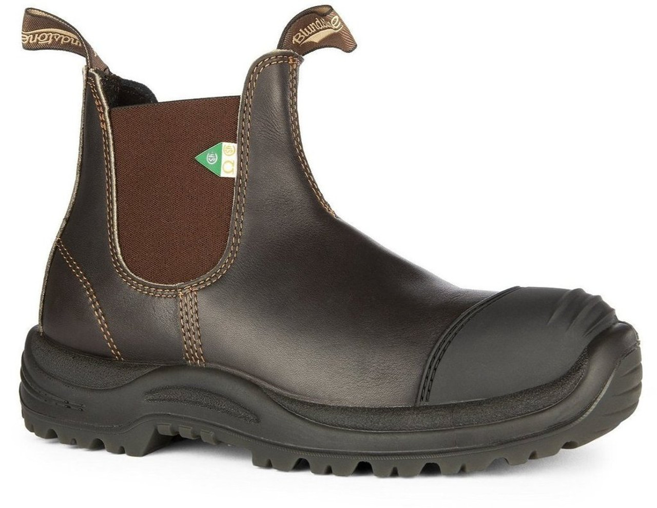 ea642c0288c Blundstone 167 Stout Brown CSA Rubber Toe Cap Safety Boot *FREE SHIPPING