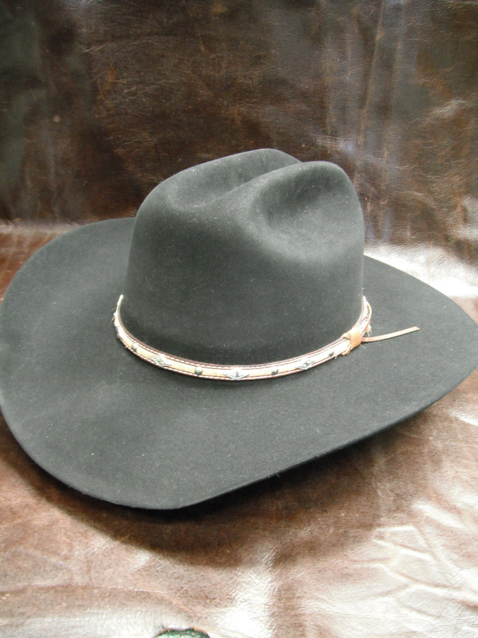 cc437c045e2 Larry Mahan 5X Brindle Black Felt Western Hat - Herbert s Boots and Western  Wear