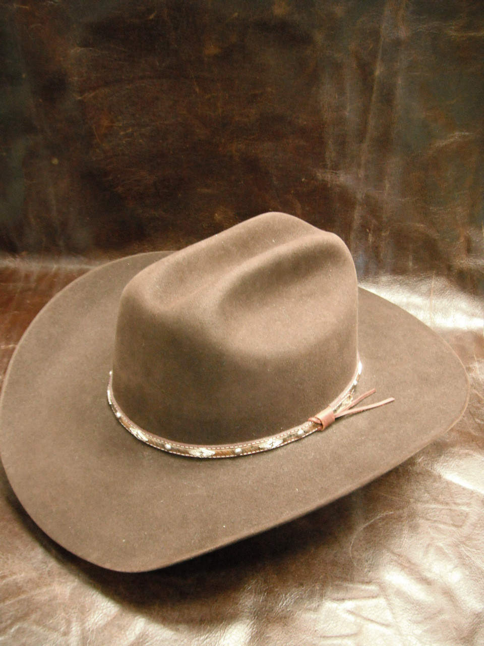 282472d9499 Larry Mahan 5X Brindle Brown Western Hat - Herbert s Boots and Western Wear