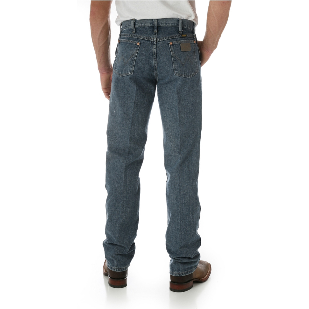 caf28cc1701 Wrangler Men's Original Fit Rough Stone Jeans - Herbert's Boots and Western  Wear