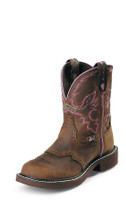 Women's Justin Aged Bark with Pink Stitching Gypsy Boot