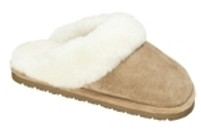 Women's Old Friend Scuff Tan Sheepskin Slipper