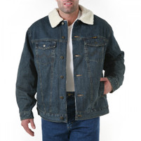 Wrangler Sherpa Lined Rustic Denim Jacket