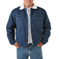 Wrangler Sherpa Lined Prewash Denim Jacket