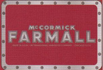McCormick Farmall Red Rectangle Belt Buckle