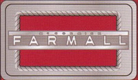 Rectangular Farmall Belt Buckle with Red Enamel
