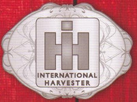International Harvester Scroll Pewter Belt Buckle