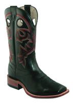 Men's Boulet Black Wide Square Toe Cowboy Boot