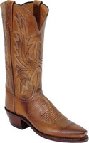 Women's Lucchese Tan Mad Goat Western Snip Toe Western Boot