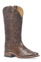 Women's Boulet Square Toe Paisley Stamped Western Boot