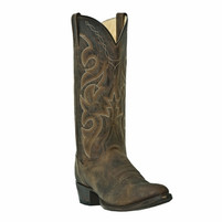 Men's Dan Post Distressed Brown Round Toe Cowboy Boot