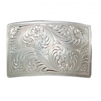 Montana Silversmiths Silver Square Belt Buckle