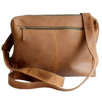Adrian Klis Large Leather Messenger Bag 2592