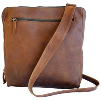 Adrian Klis Tall Leather Messenger Bag