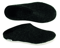 Glerups Charcoal Wool Slipper