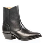 Men's Boulet Black Zippered Half Boot