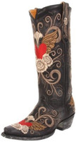Women's Old Gringo Grace Black Western Boot with Embroidery