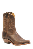 Women's Boulet Distressed Brown Half Cowboy Boot
