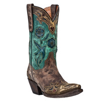 Women's Dan Post Vintage Distressed Bluebird Cowgirl Boot