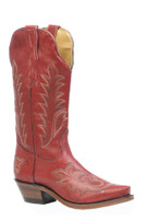 Women's Boulet Red Snip Toe Western Boot