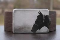 Gestalt Stainless Steel Horse Head Belt Buckle