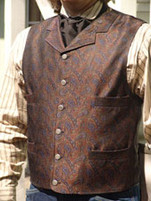 Men's Old Frontier Multi-colour Paisley Brocade Dress Vest