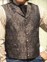 Men's Old Frontier Gunmetal Paisley Brocade Vest