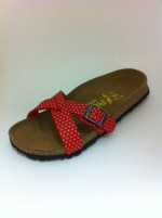 Birkenstock Papillio Catania Mini Points Red Birko-Flor