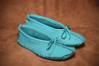 Hides in Hand Women's  Turquoise Ballet Moccasin