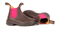 Blundstone Kid's 1410 Brown and Pink Blunnies
