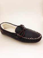 Men's Wakonsun Brown Moccasin Fleece Lining Double Leather Sole