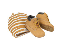 Timberland Infant Crib Bootie and Hat Set