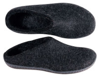 Glerups Slipper with Rubber Sole Black