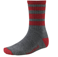 Men's Smartwool Striped Light Gray Hike Medium Crew Socks