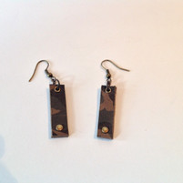 CEOriginals  Camo print leather earrings