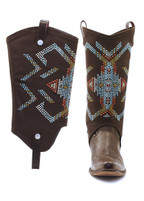 BootRoxx Aztec Bling Chocolate Boot Cover