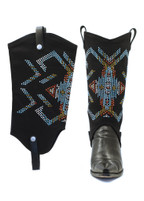 BootRoxx Aztec Bling Black Boot Cover