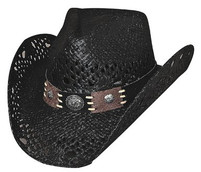 "Bullhide ""Pure Country"" Black Straw Hat"