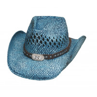 """Bullhide """"Wild & Blue (Blue)"""" Straw Hat"""