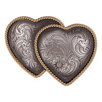 Antiqued Heart Whispers Buckle